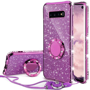 iStylishmall - Diamond Glitter Bumper Case For Samsung Galaxy S10 Plus S10E S8 S9 Note 10 9 Samsung A Series