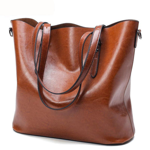 Oil Wax Leather Large Capacity Shoulder Bags - i-stylish mall