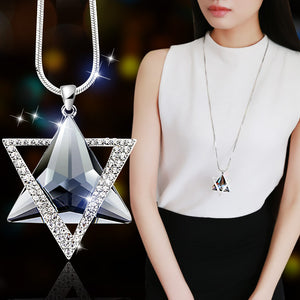Hot Trendy Jewelry Geometric Crystal Pendant Necklace  2018 - i-stylish mall