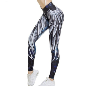 Harajuku 3D wing fitness leggings - i-stylish mall