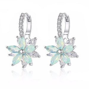 HOT SALE - Romantic Lovely Zirconia Flower Shape  Earrings - i-stylish mall