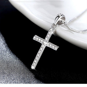 Hot Sale Silver Cross Necklace With Choker Pendant - i-stylish mall