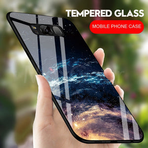 Star Tempered Glass Phone Cases For Galaxy S9 S8 Plus