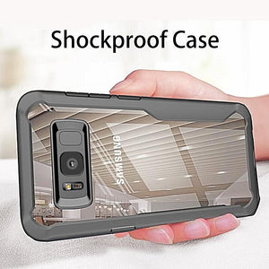 Transparent Shockproof Armor Case For Samsung Galaxy S9 S8 Plus Note 8 9 A8 A6 Plus 2018