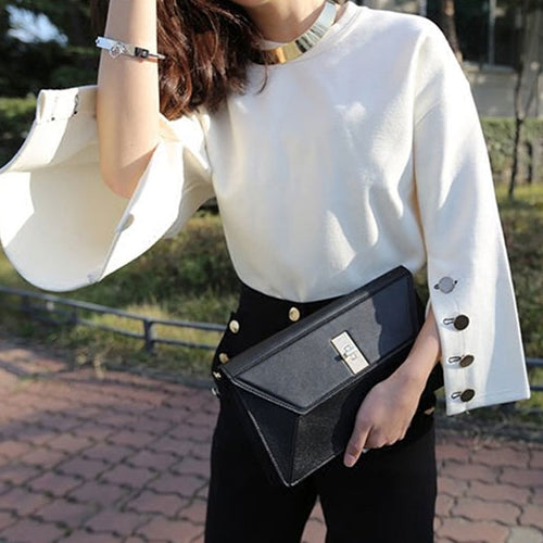 Hot Trend - Autumn Flare Split Sleeve O-neck Sweater - i-stylish mall