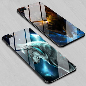 Luxurious Tempered Glass  TPU Edge Hybrid Cover Case For iPhone X XS MAX XR