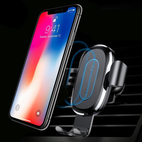 Car Mount Qi Fast Wireless Charger For iPhone XS Max X XR 8 Samsung Note 9 S9 S8