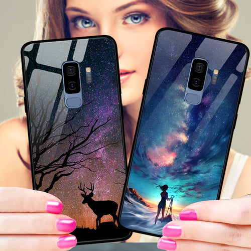 Special Beautiful Tempered Glass Case For Samsung S9 And S9 Plus