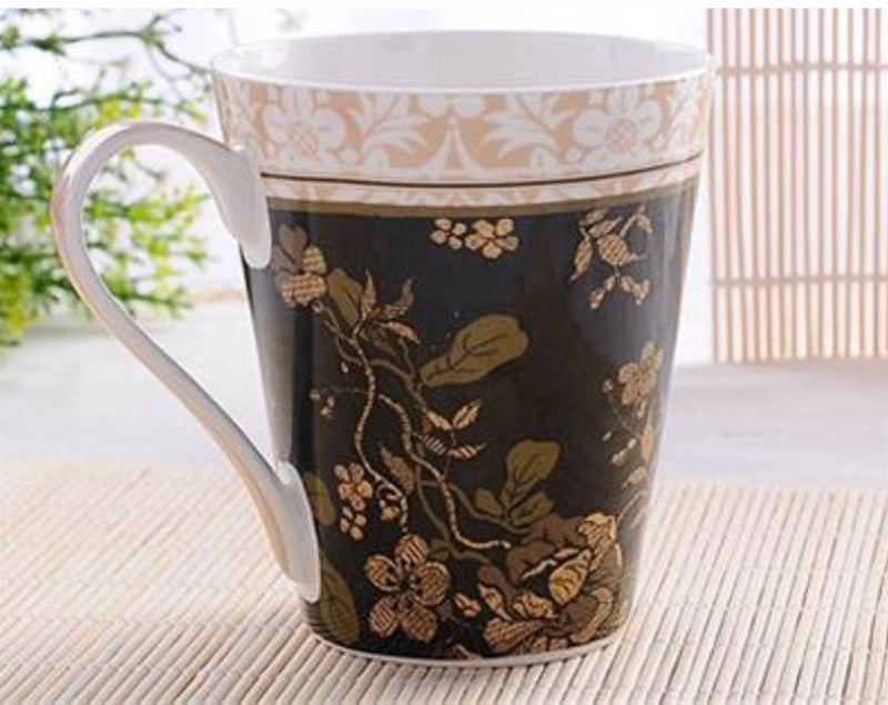 470 ml Black Gold Rose Coffee Mug