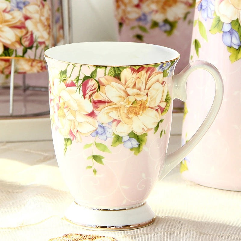 Morning Glory Pink Coffee Tea Mug