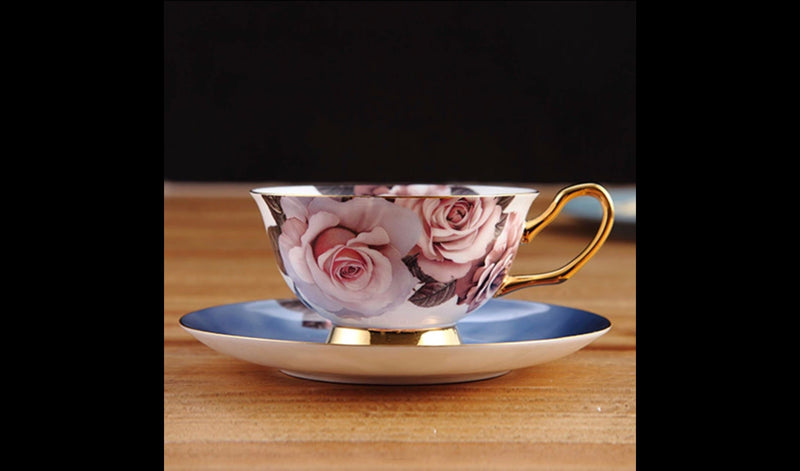 Rose Sky Coffee Tea Cup & Saucer
