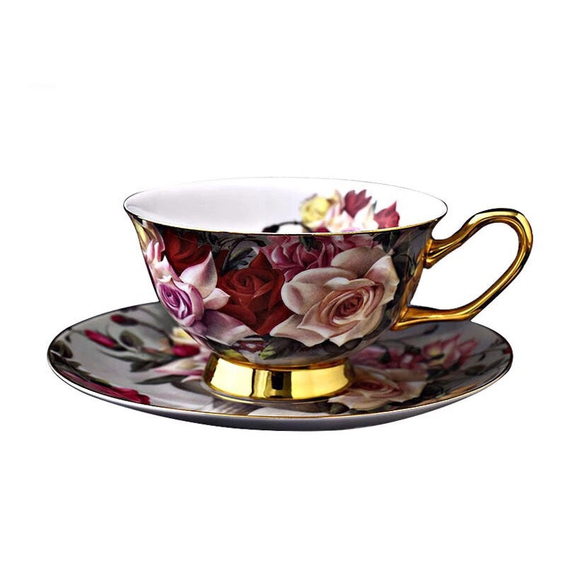 Rose Garden Coffee Tea Cup & Saucer