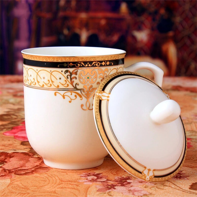 Vienna Royale Coffee Tea Mug with Lid