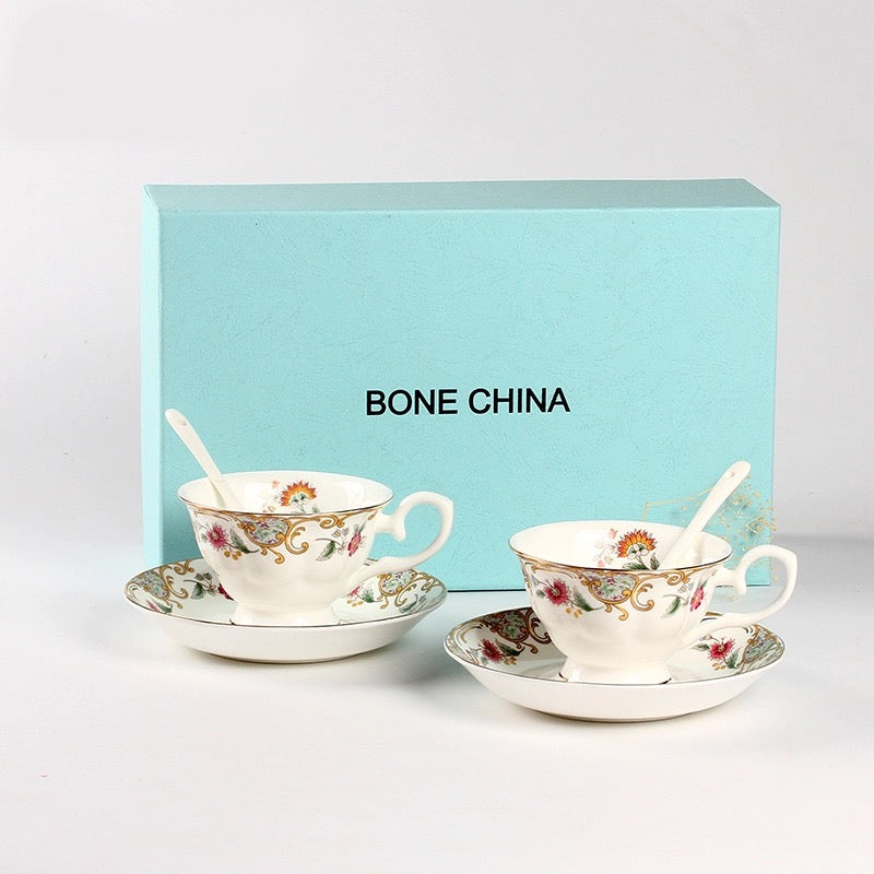Ancient Vienna Coffee Tea Cup & Saucer Set