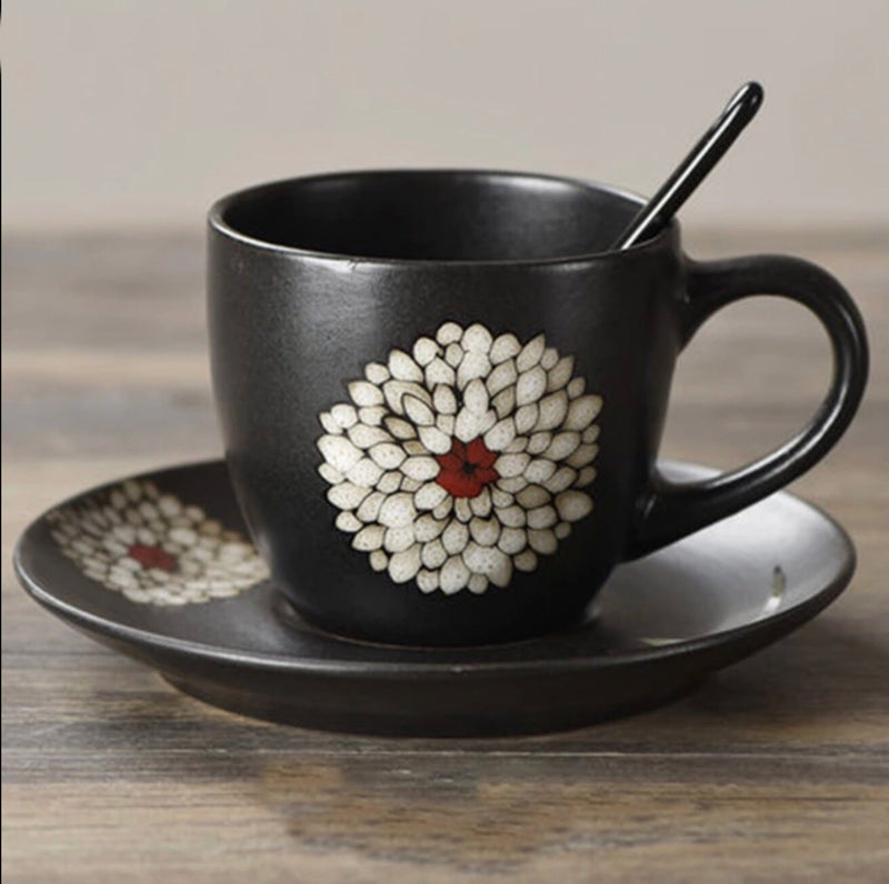 Osaka Bloom Coffee Tea Cup & Saucer