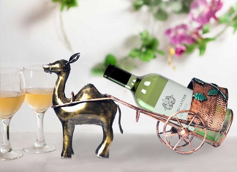 Camel Cart Wine Bottle Holder