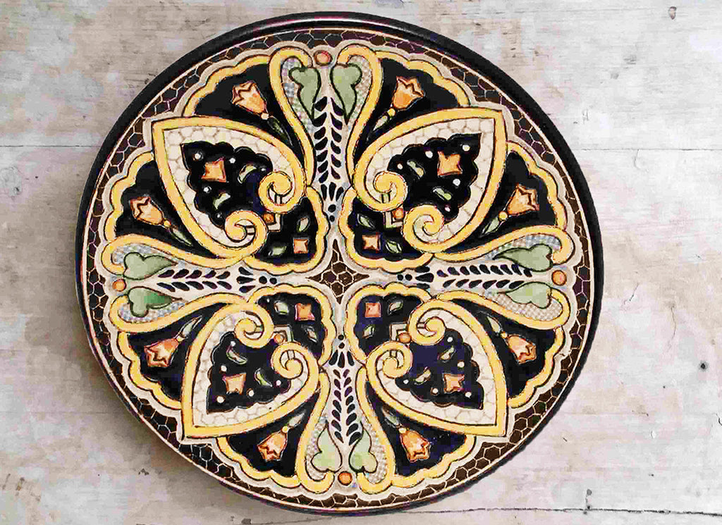 Antique ceramic wall art décor plate