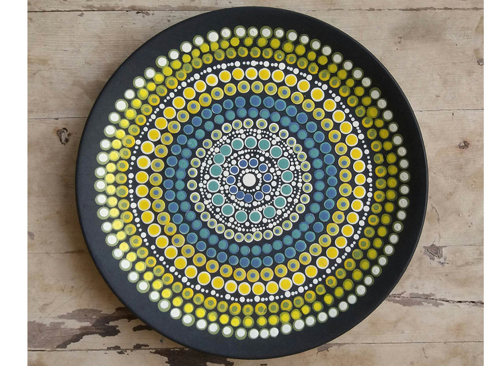 Australian Aboriginal art wall plate décor