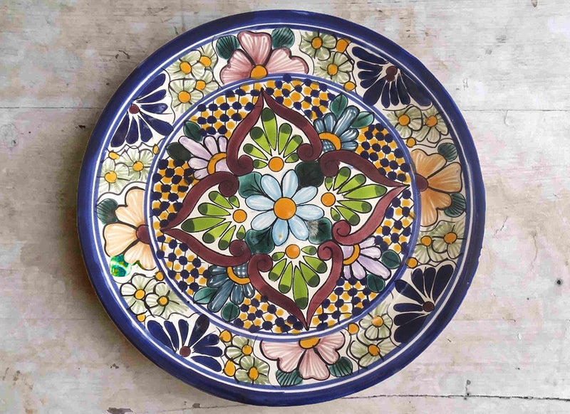 Ceramic Mexican pottery wall plate