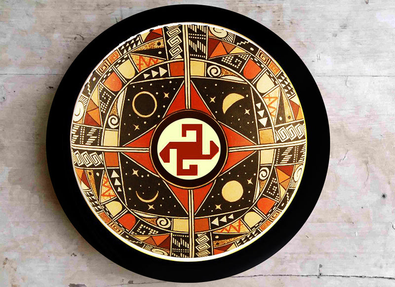 Contemporary galaxy design wall plate