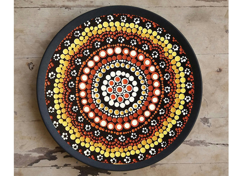 Decorative black designer wall plate