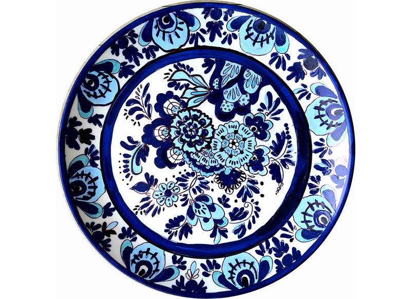 Delft floral ceramic wall plate