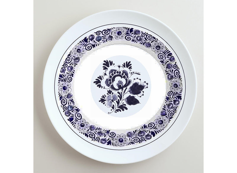 Elegant Dutch floral wall plate