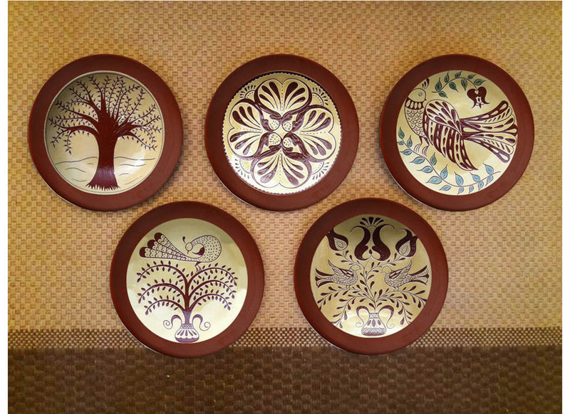 Exquisite design German redware wall plates