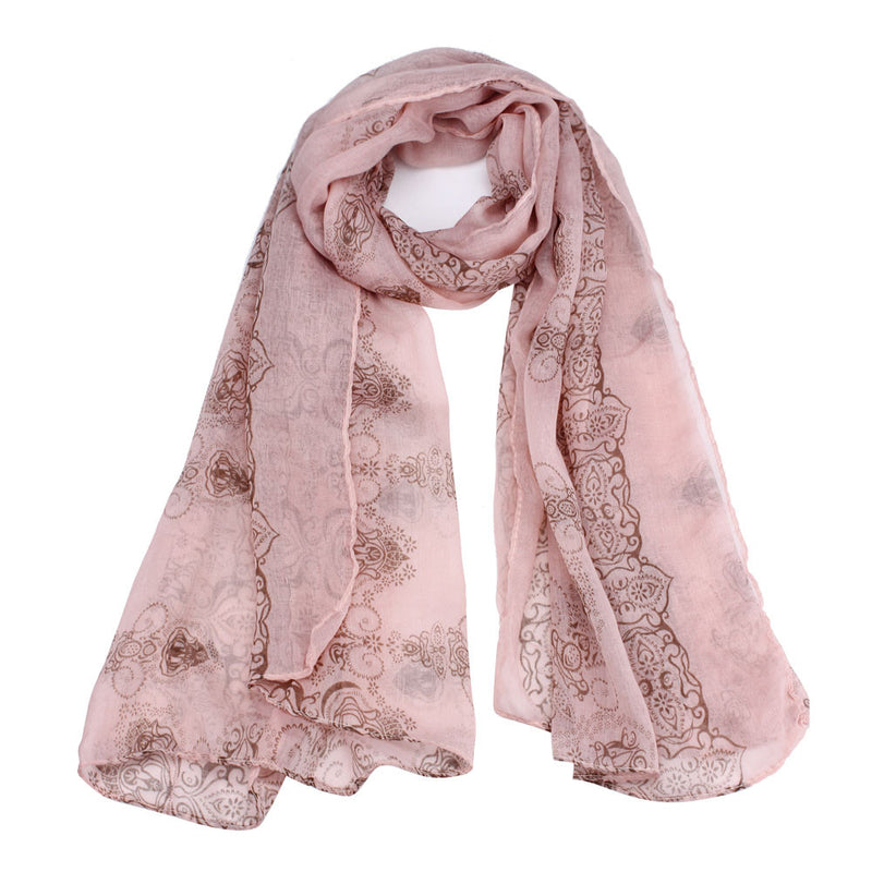 Arabian Nights Pink Cotton Scarf