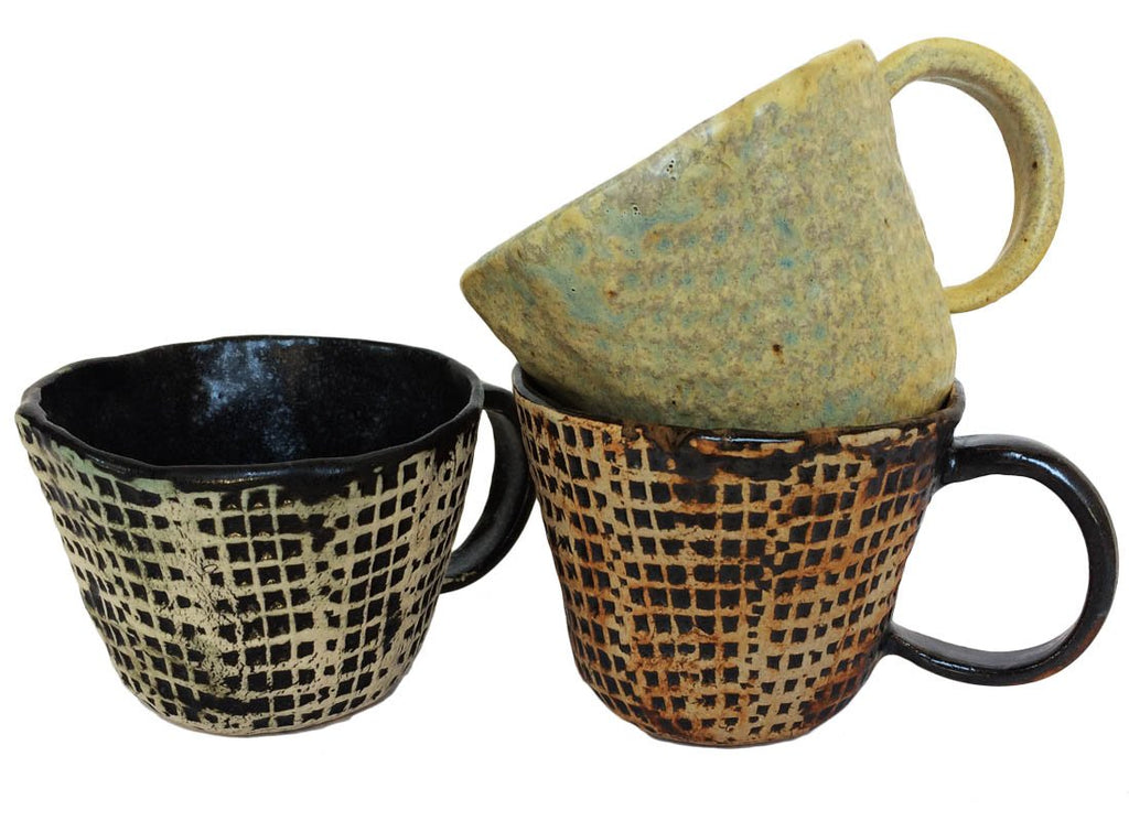 Rustic Ceramic Coffee Mug Set