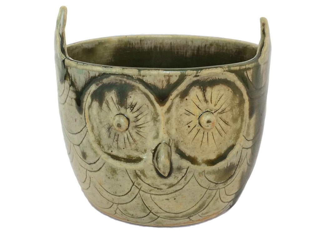 Quirky Owl Design Ceramic Planter