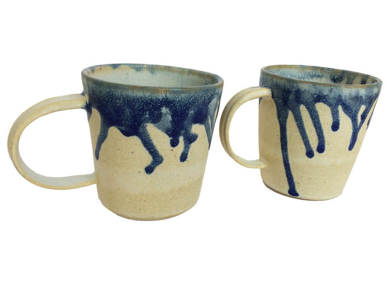 Abstract Art Ceramic Coffee Mug Set