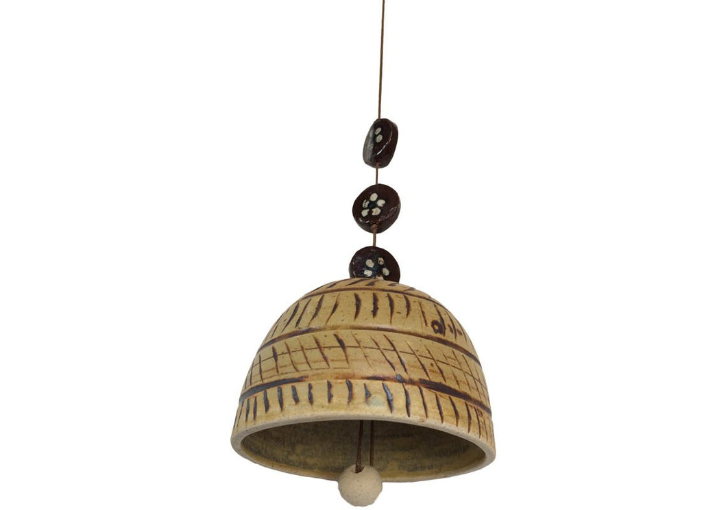 Ethnic Carved Design Ceramic Bell
