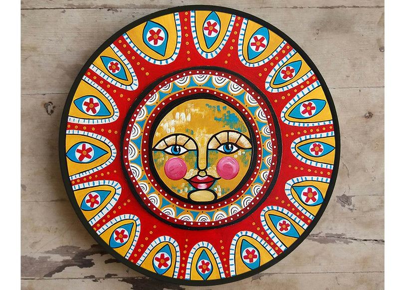 Abstract Design Hand-painted Ceramic Wall Decor Plate