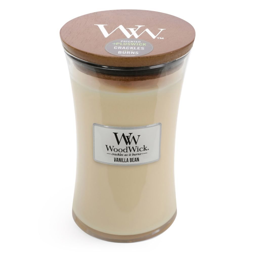 Woodwick Candle Vanilla Bean Large