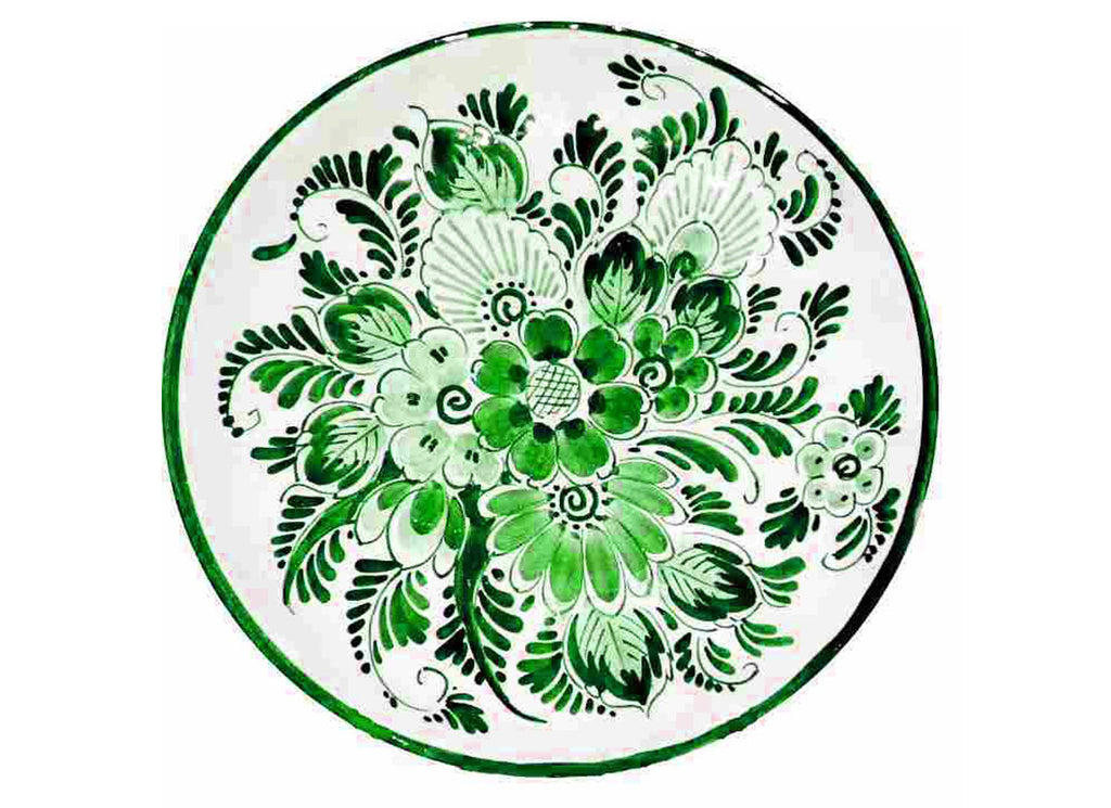 green wall plate