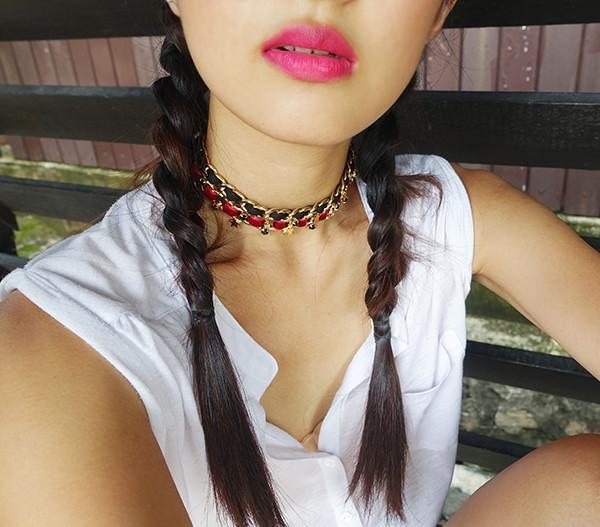 I'm Single x Starry Choker in red