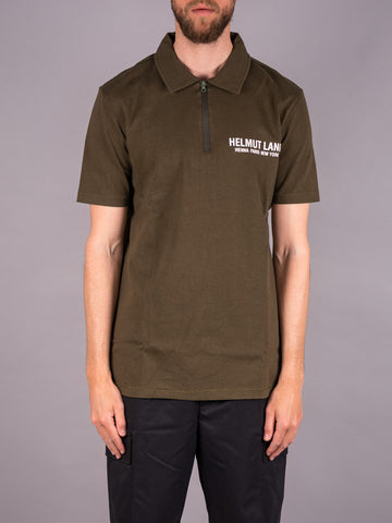 Helmut Lang Polo Shirt grün military