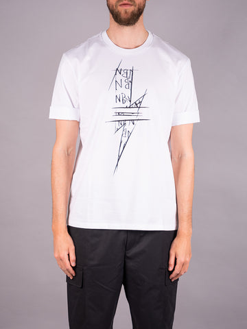Neil Barrett T-Shirt weiß white Men