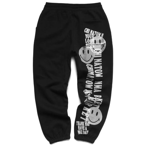 Smiley Print Gun Sweatpants