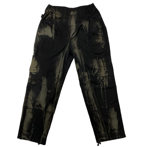 Black Hand Bleached Cargo Pants