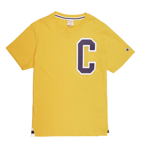 Champion Crewneck Tshirt Yellow Big C