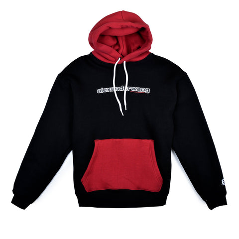 Compact Fleece Two Tone Logo Hoodie