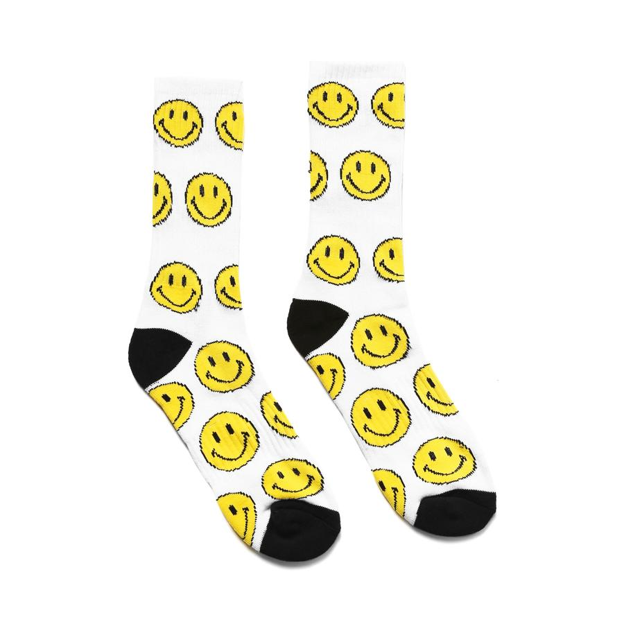 Smiley Socks White