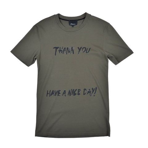 SS Perfect Tshirt W Thank You Print