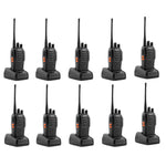 10 Pcs Walkie Talkies BF-888S Baofeng Handheld Two Way Radios Battery and Charger