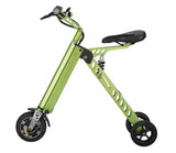 Fashion Two Wheels Electric Folding Bicycle, 36V Lightweight Small Electric Bike 13.5kg E-Bike -H9-3 -Green