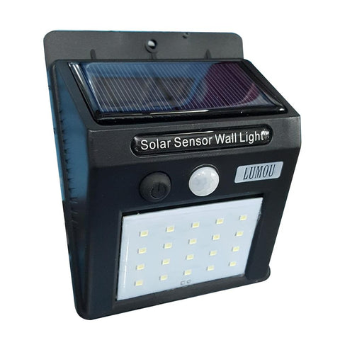 Light Sensor Solar Light 20 LEDs Light Outdoor Path Wall Lamp - edragonmall.com