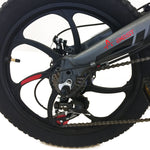 AEST Folding Electric Bike 20 Inch Wheels Convenient Folding E-Bike, 48v Battery Charger -Black - edragonmall.com