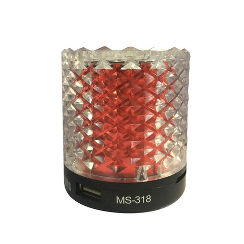 LED Light MINI Bluetooth Speaker Wireless Subwoofer Loudspeakers with Mic For Cellphone PC -KS156-MS318